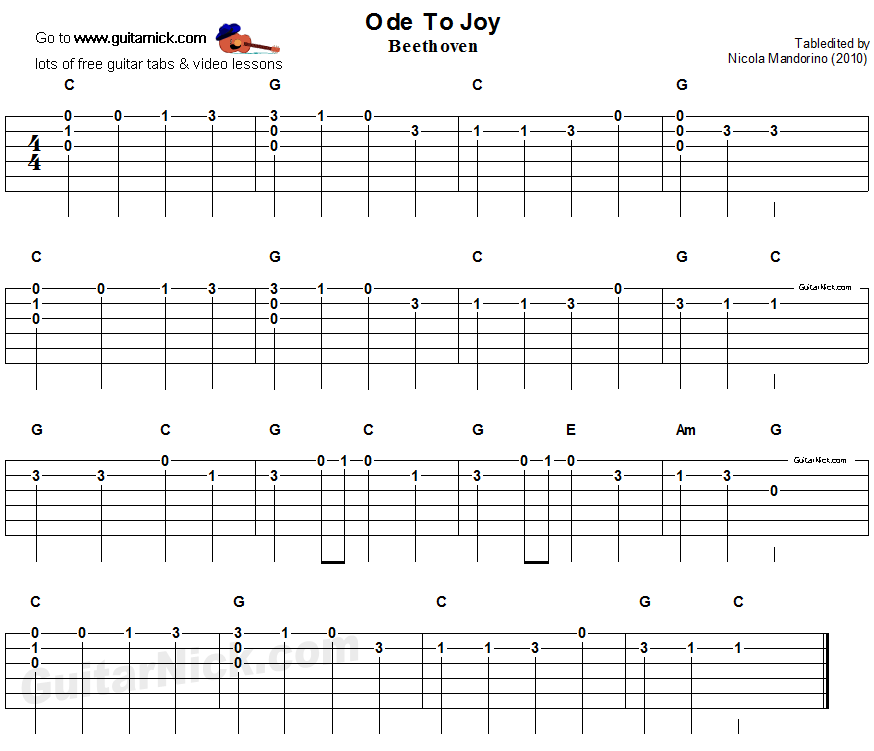 ode-to-joy-easy-guitar-tab